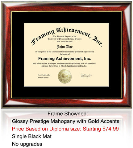 College Diploma Frame