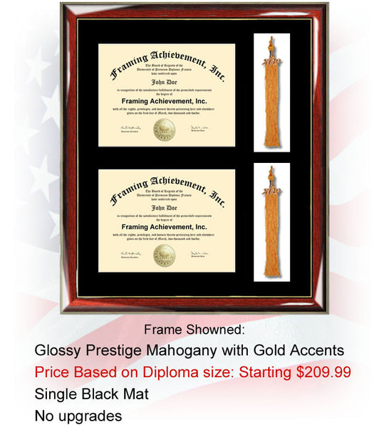 Dual Certificate Frame Double Diploma Frame For Your