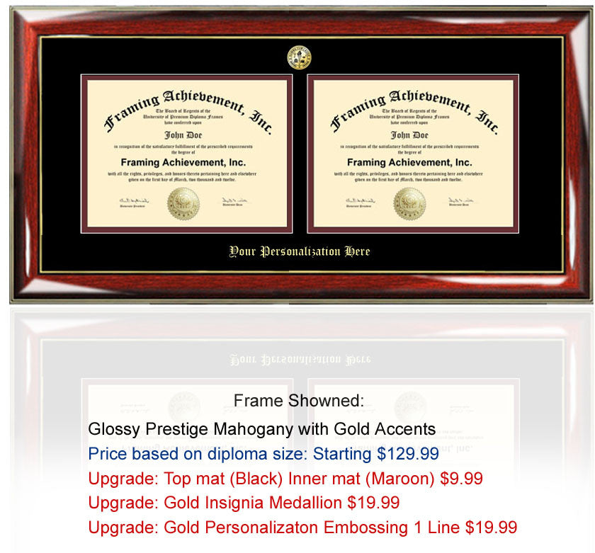 Double Two Diploma Frame and Dual Certificate Frames Degree Plaque