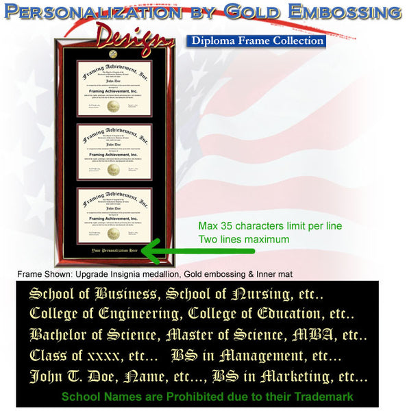 Triple Certificate Frame And University Diploma Frame