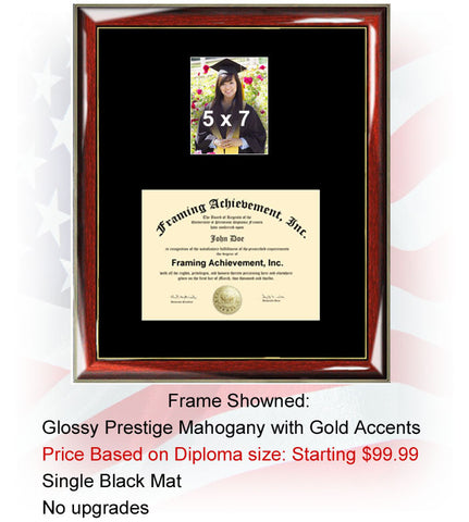 College Graduation Diploma Frame