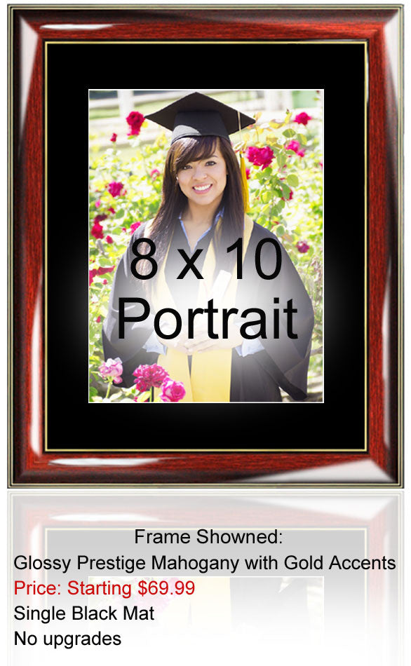 8 x 10 University College Graduation Picture Frame Gold Embossed