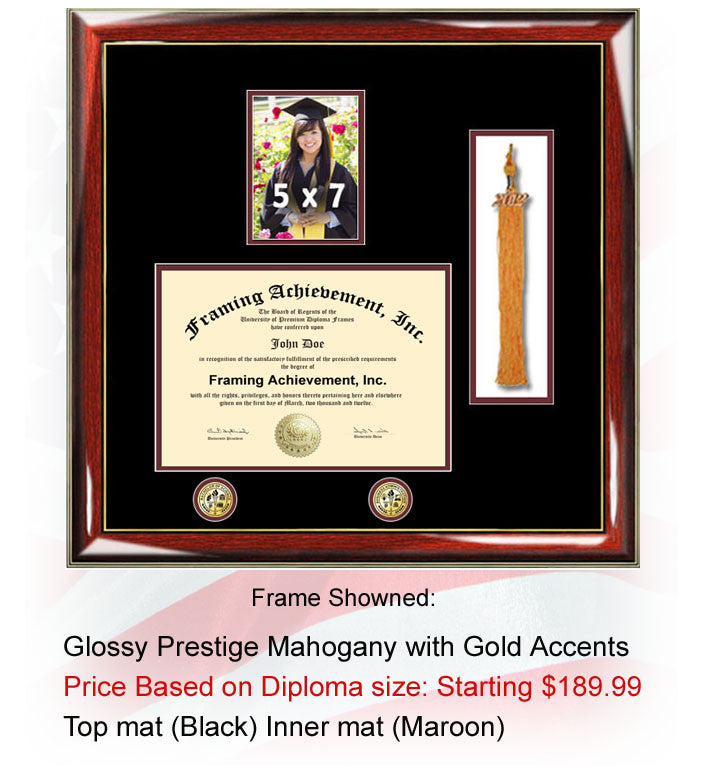 College tassel diploma frame tassel document high school 5 x 7 frame