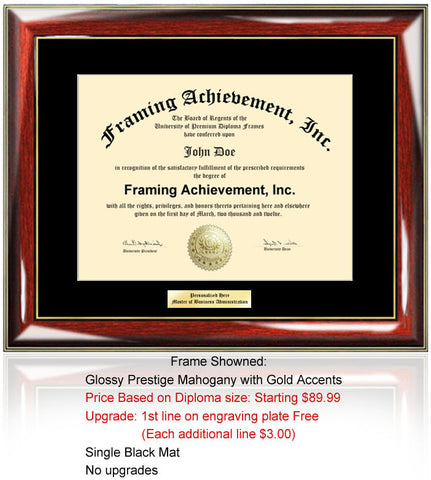 Engrave Certificate Diploma Frame