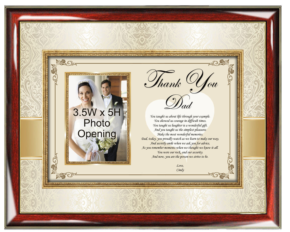 Gift for dad thank you christmas birthday poetry wedding daughter