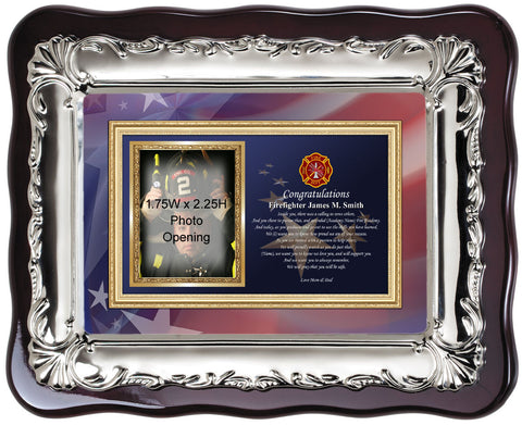 firefighter photo frame