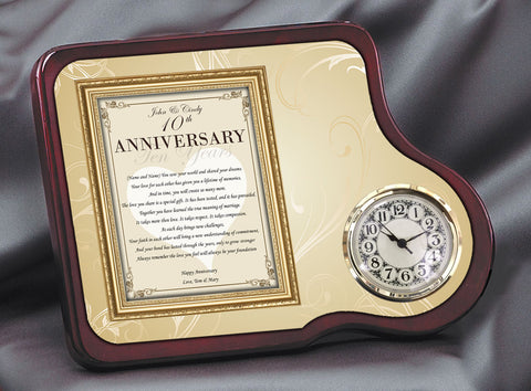 Anniversary poetry clock