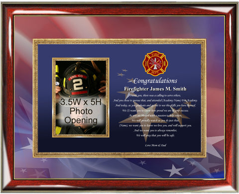 Fire Academy Picture Frame Gift