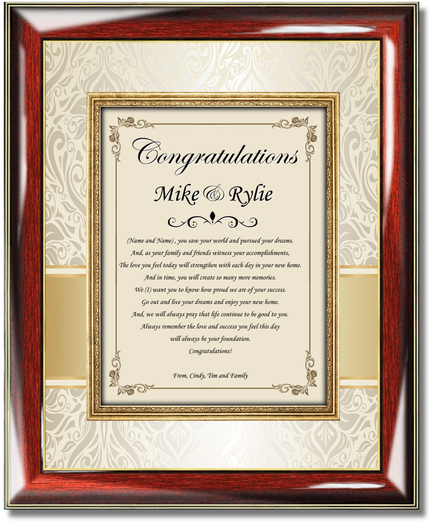 Personalized Housewarming Gift Frame