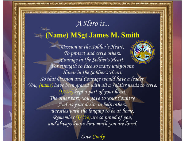 army picture frame military photo plaque personalized soldier gift