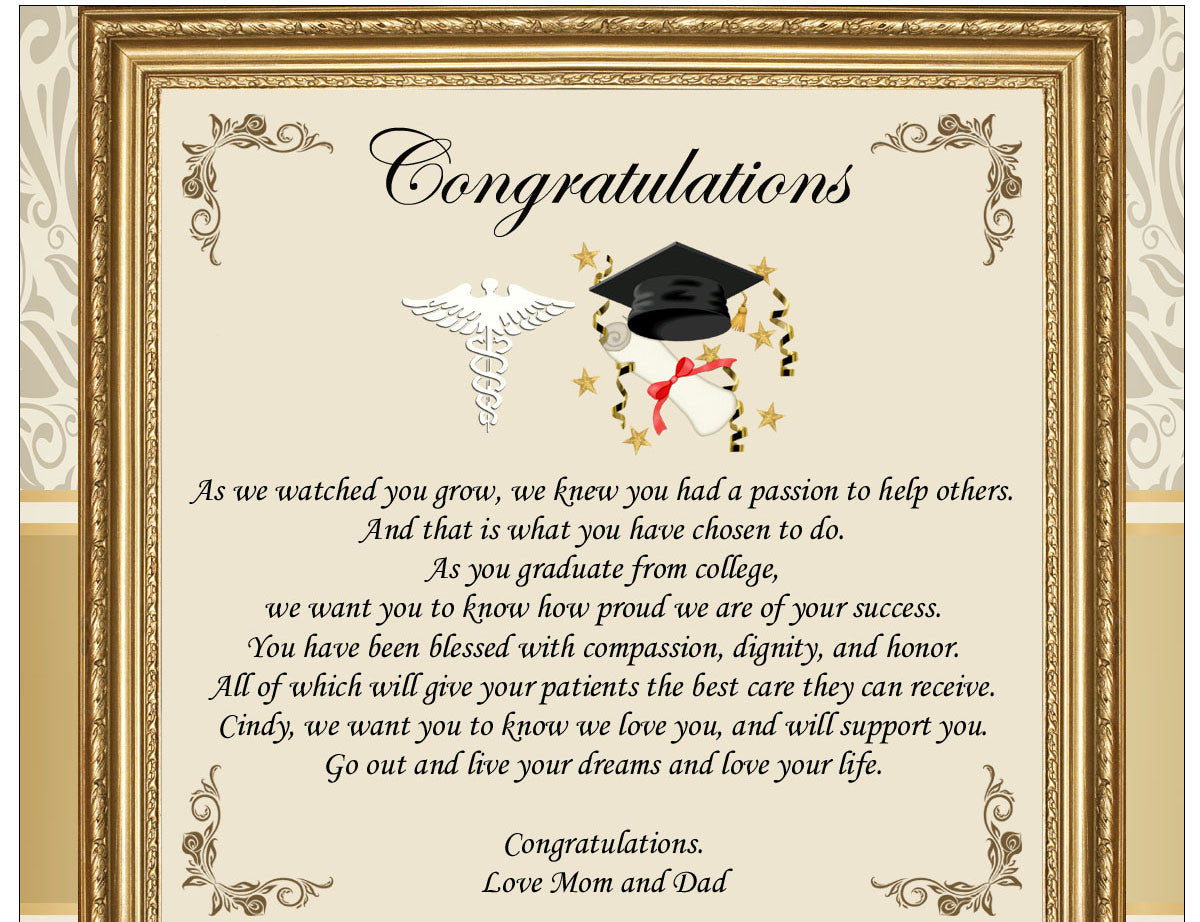 Personalized Medical School Graduation Gifts Doctor Physician Student