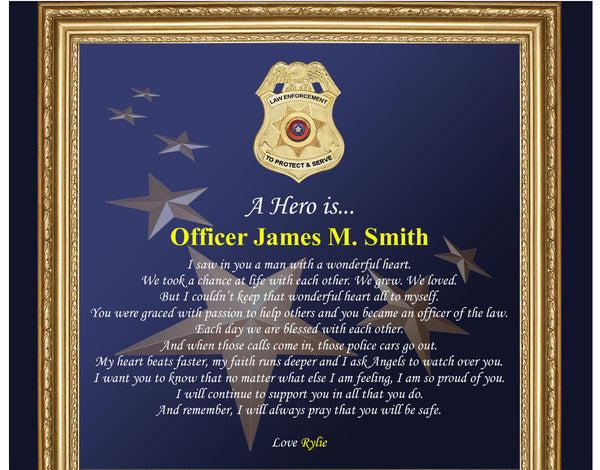 Personalized Police Gifts Police Officer Gifts Him Husband