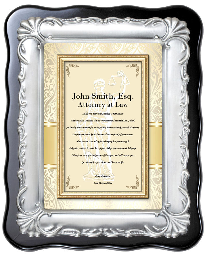 Lawyer Attorney Plaque ...  sc 1 st  AllGiftFrames.com & Law School Graduation Gift Plaque for Attorney Lawyer Passing Bar