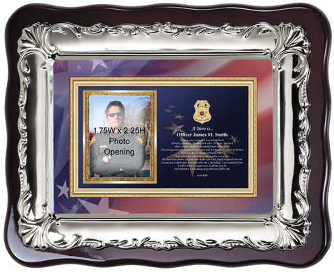 policeman picture frame