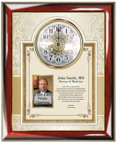 Medical School Graduation Gift Clock Picture Frame