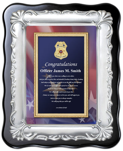 police academy plaque