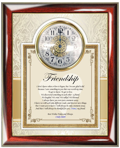 Friendship gift plaque