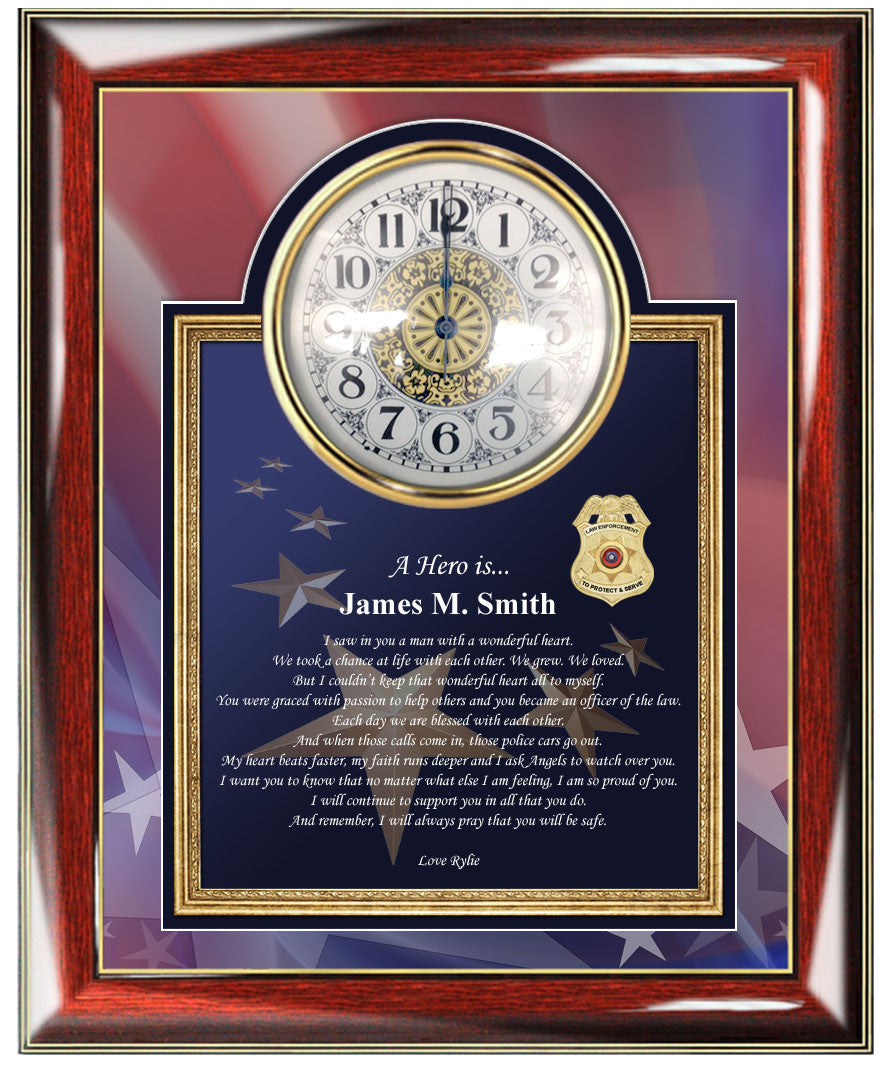 personalized police gifts sheriff policeman present photo frame