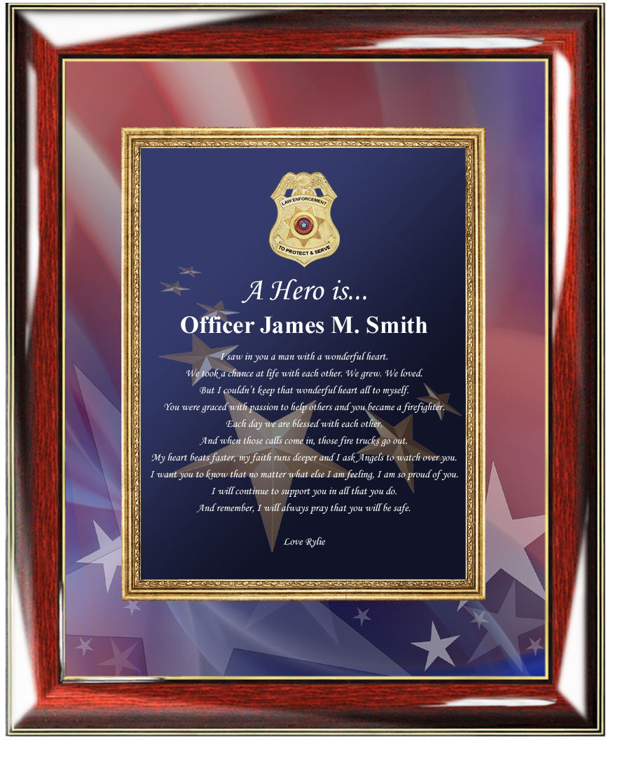 Personalized police gifts police officer gifts him husband boyfriend