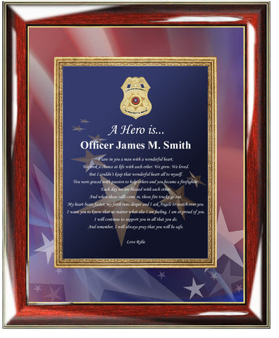 Police Sheriff Plaque