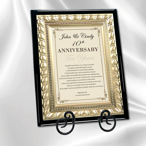 anniversary parents poem plaque