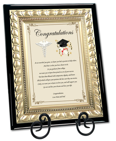 medical school graduation gift plaque