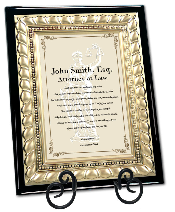 passing bar lawyer gift plaque ...