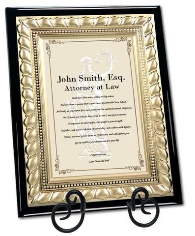 passing bar lawyer gift plaque