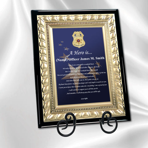 police gift plaque