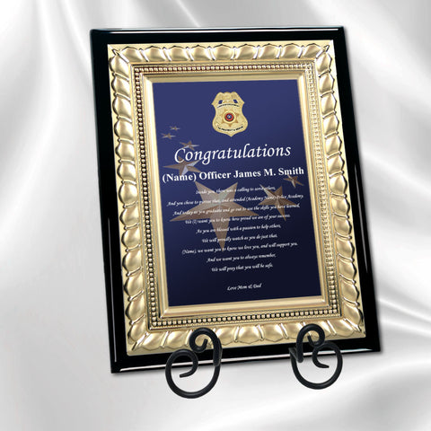 Law Enforcement Graduation Gift Police Academy Sheriff Congratulation