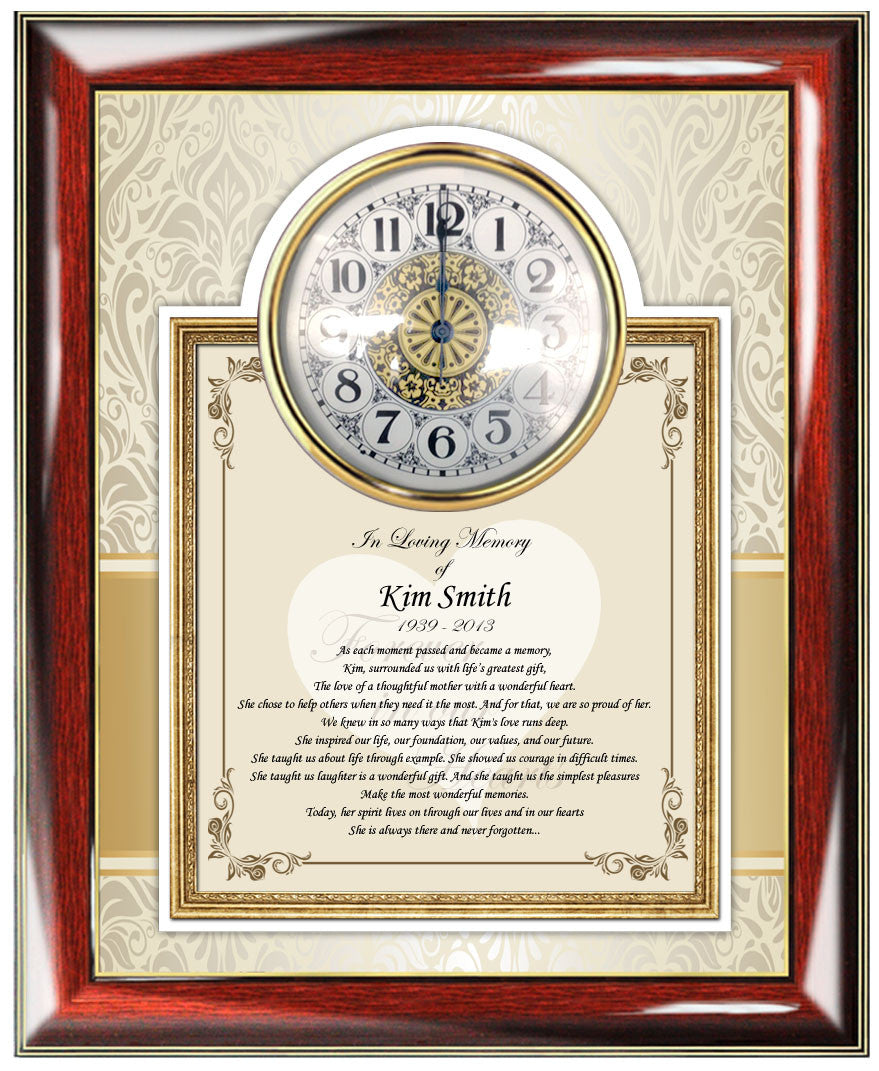 Custom Sympathy In Memory Of Gift And Remembrance Memorial Frames