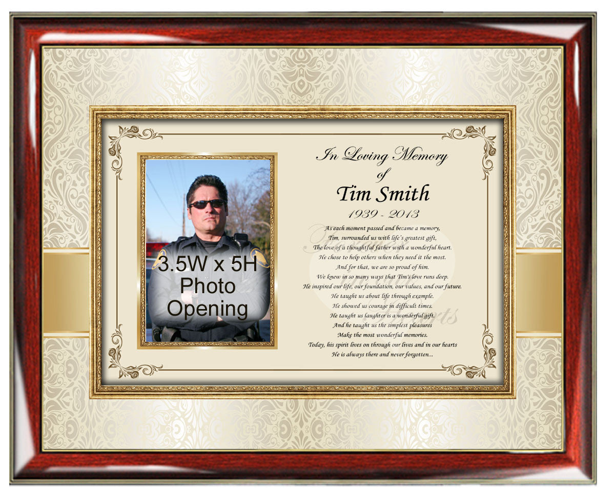 Personalized sympathy gifts in memory memorial picture frame photo memorial picture frame jeuxipadfo Images
