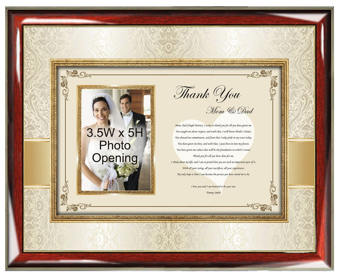Personalized Parents Gifts from Son or Groom in law
