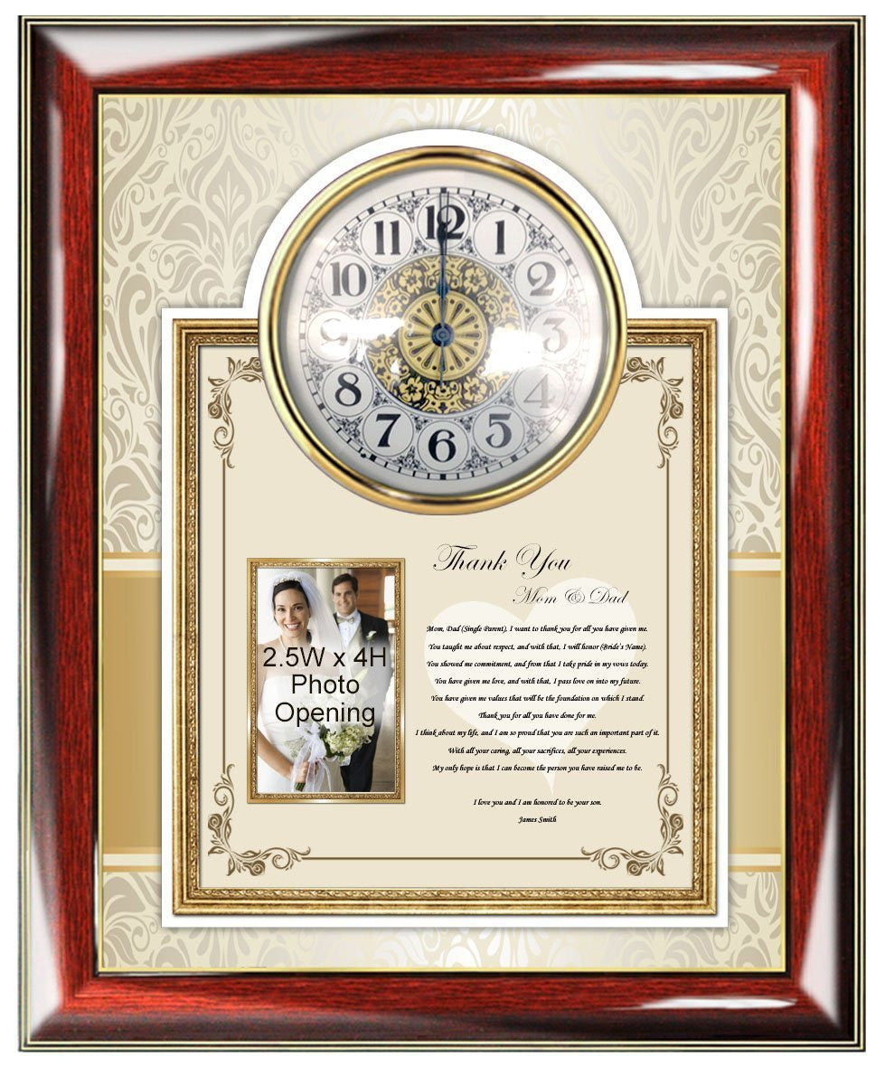 Wedding gift to parents from son or groom in law picture frame