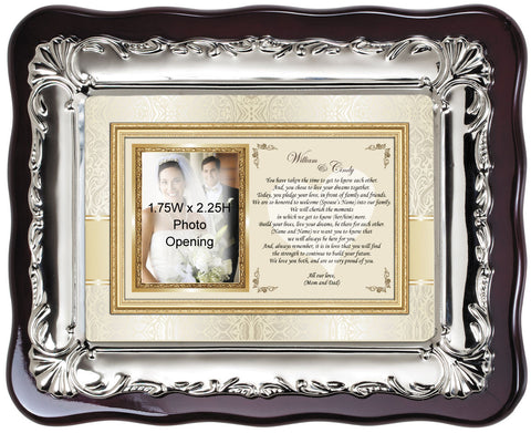 wedding photo frame bride