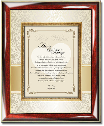 wedding poetry picture frame