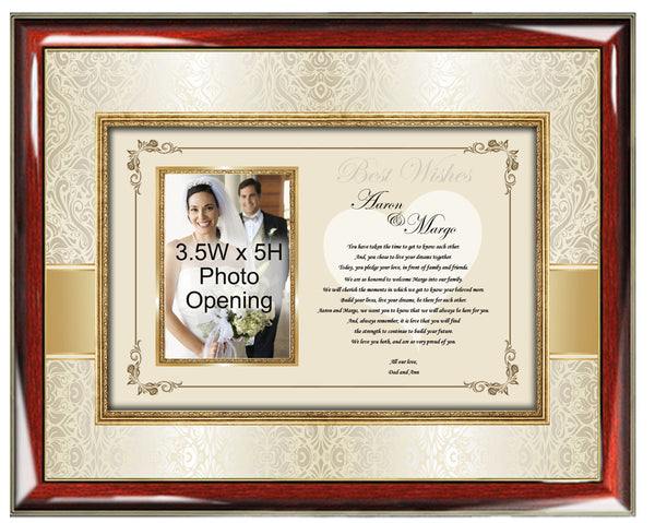 Special Wedding Gifts For Son And Daughter In Law : personalized wedding gift for daughter and son in law frame