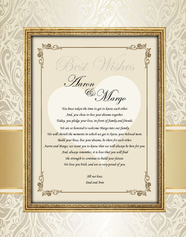 wedding picture mat bride gift