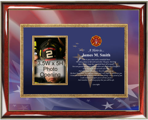 Firefighter Picture Frame