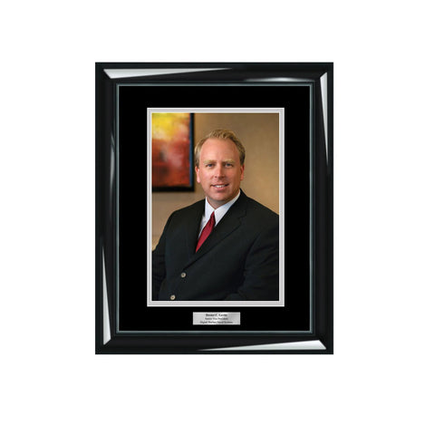 8x10 Engraved Picture Frame Glossy Majestic Black