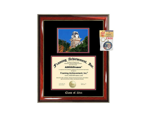 Diploma Frame Big University of Arkansas Fayetteville UAF Graduation Gift Case Embossed Picture Frames Engraving Degree Graduate Bachelor Masters MBA PHD Doctorate School