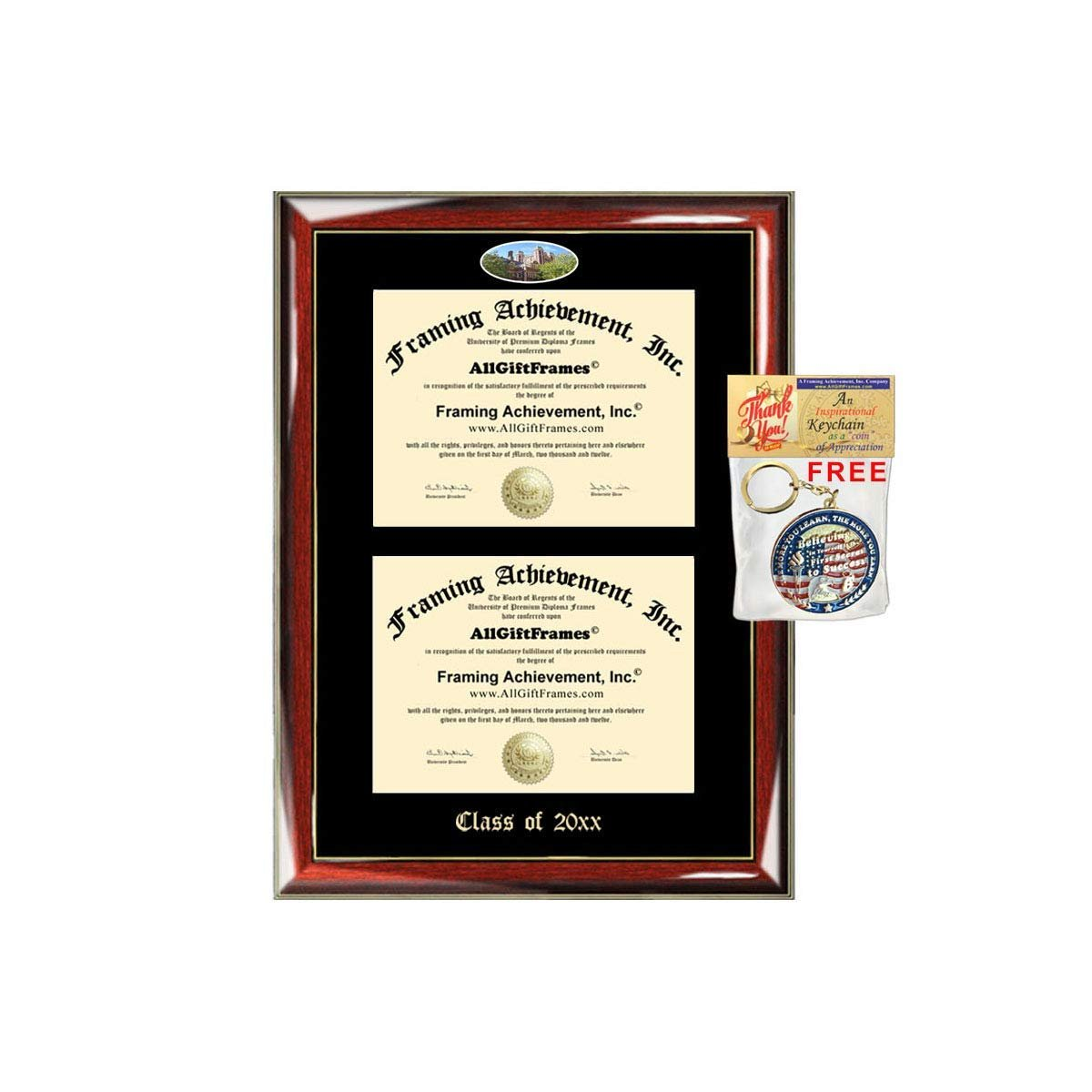 Allgiftframes Double Certificate Frame Upenn University Of Pennsylvani