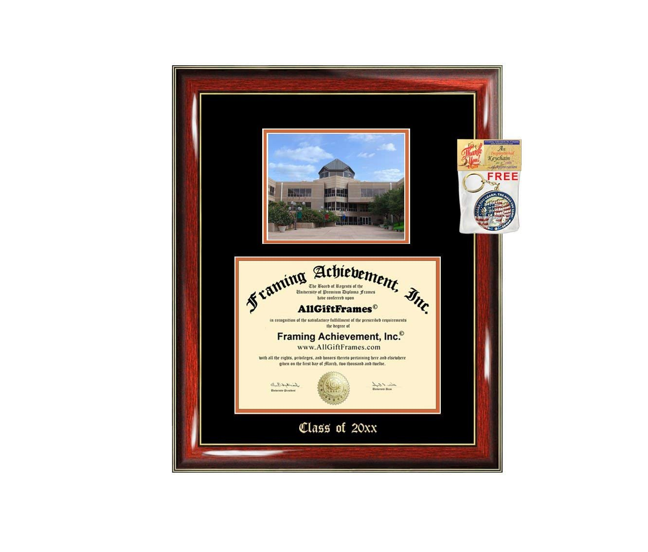 Diploma Frame Big University of Texas Dallas Graduation Gift Case Embossed  Picture Frames Engraving Degree Graduate Bachelor Masters MBA PHD Doctorate