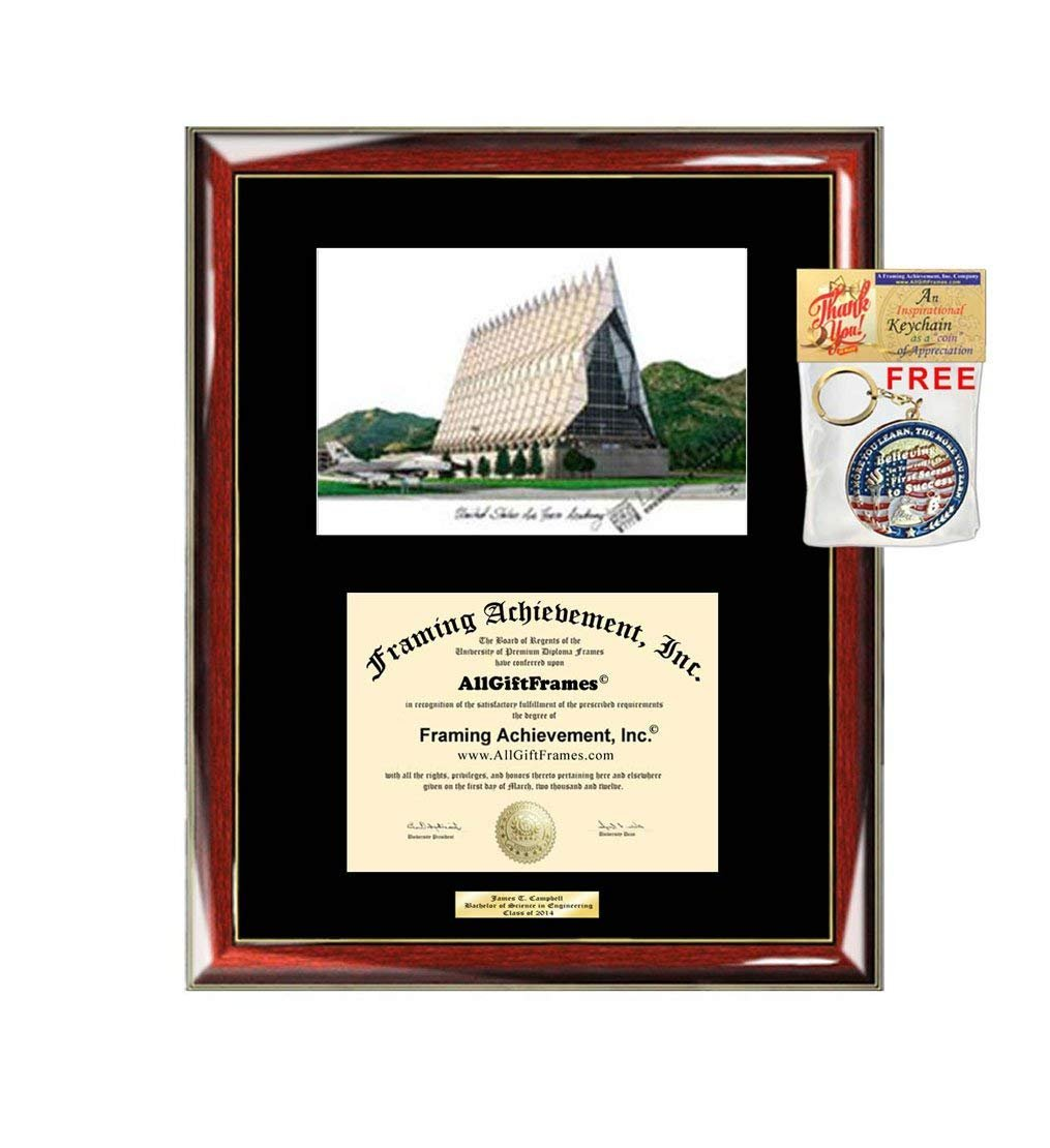 Us Air Force Academy Diploma Frame Lithograph Graduation Degree Framin