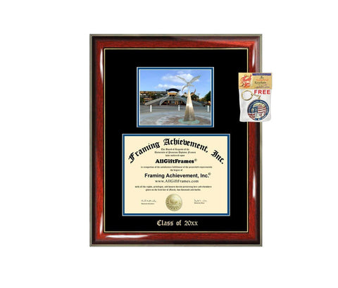 Diploma Frame Big University of North Florida UNF Graduation Gift Case Embossed Picture Frames Engraving Degree Graduate Bachelor Masters MBA PHD Doctorate School