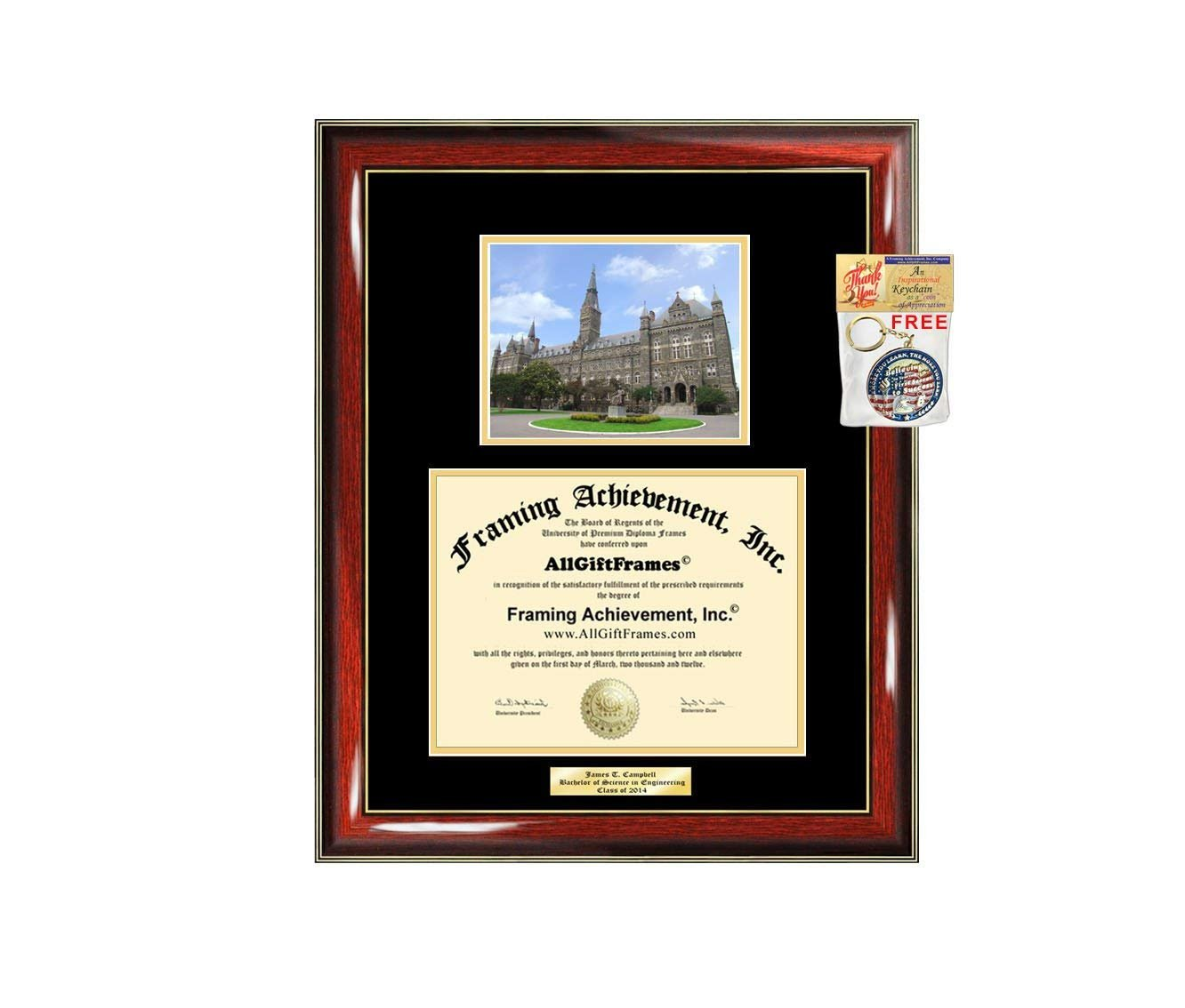 diploma frame georgetown university graduation gift idea engraved pict