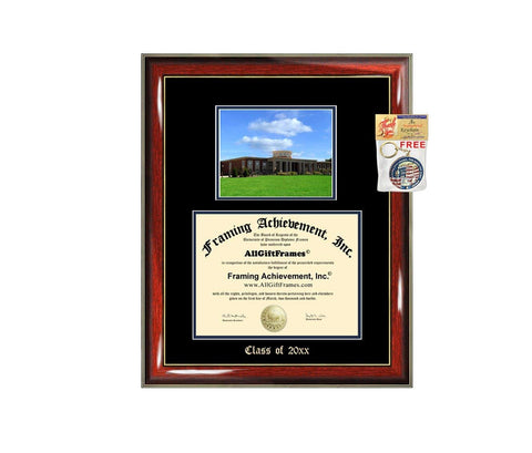 Diploma Frame Big UNCG University of North Carolina Greensboro Graduation Gift Case Embossed Picture Frames Engraving Degree Graduate Bachelor Masters MBA PHD Doctorate School