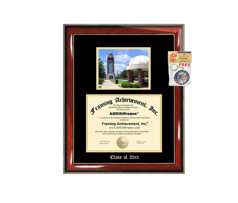 Diploma Frame Big University Arkansas Fort Smith UAFS Graduation Gift Case Embossed Picture Frames Engraving Degree Graduate Bachelor Masters MBA PHD Doctorate School