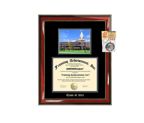 Diploma Frame Big Xavier University of Ohio Graduation Gift Case Embossed Picture Frames Engraving Degree Graduate Bachelor Masters MBA PHD Doctorate School