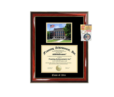 Diploma Frame Big University of Wisconsin Milwaukee UWM Graduation Gift Case Embossed Picture Frames Engraving Degree Graduate Bachelor Masters MBA PHD Doctorate School